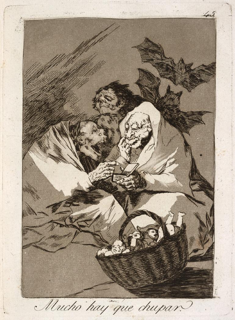 Caprichos. Mucho hay que chupar, 1799
