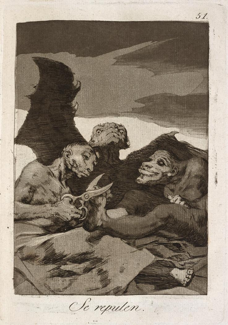 Caprichos. Se repulen, 1799