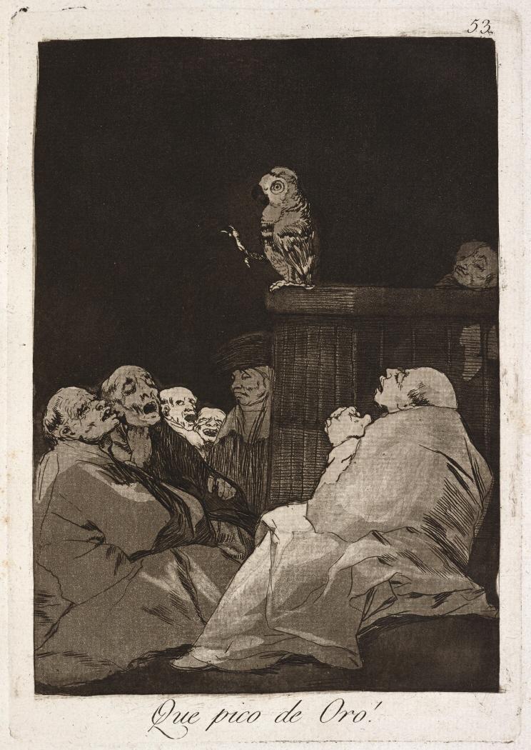 Caprichos. Que pico de Oro!, 1799