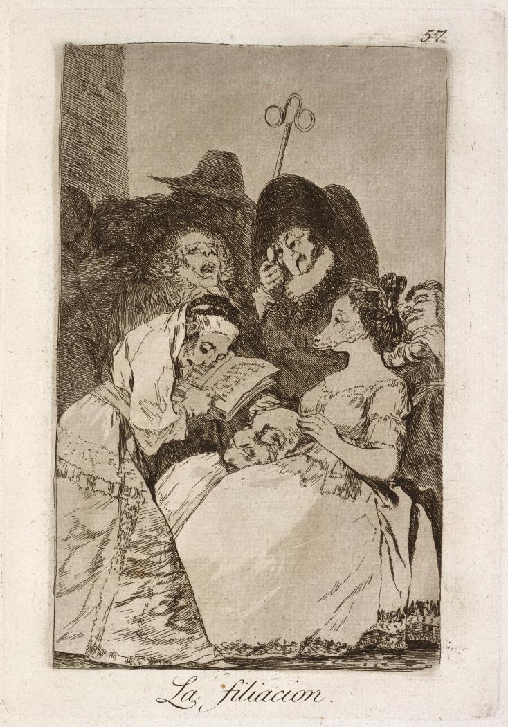 Caprichos. La filiacion, 1799