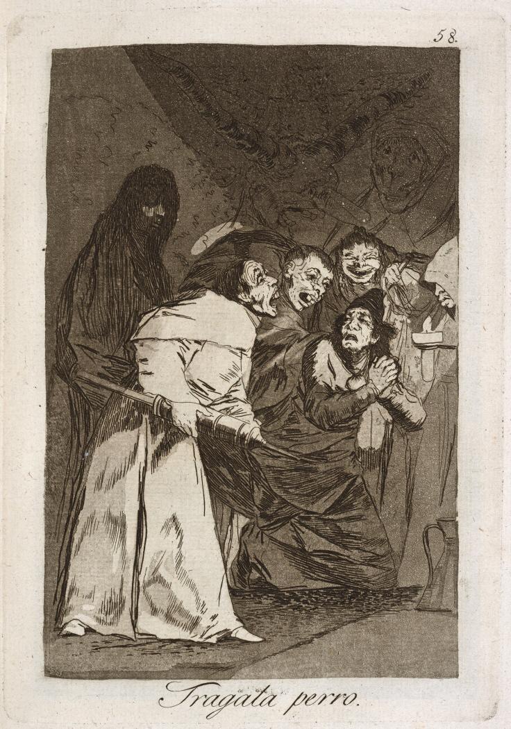 Caprichos. Tragala perro, 1799
