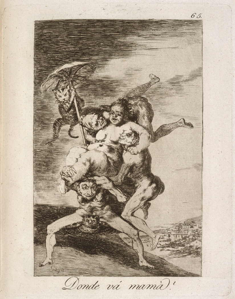 Caprichos. Donde vá mamá?, 1799