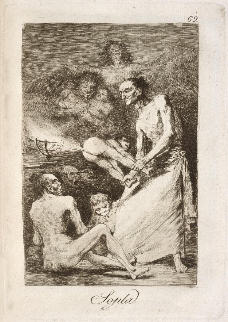 Caprichos. Sopla, 1799