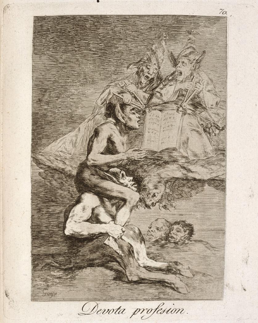 Caprichos. Devota profesion, 1799