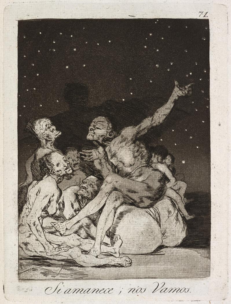 Caprichos. Si amanece, nos Vamos, 1799