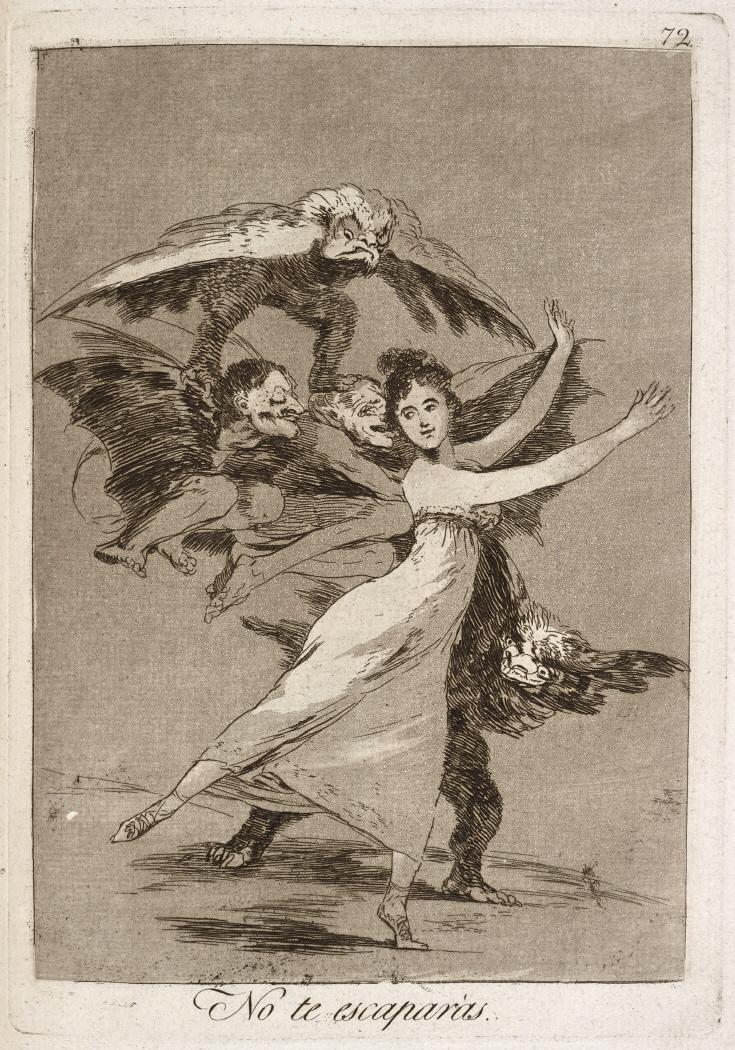 Caprichos. No te escaparás, 1799