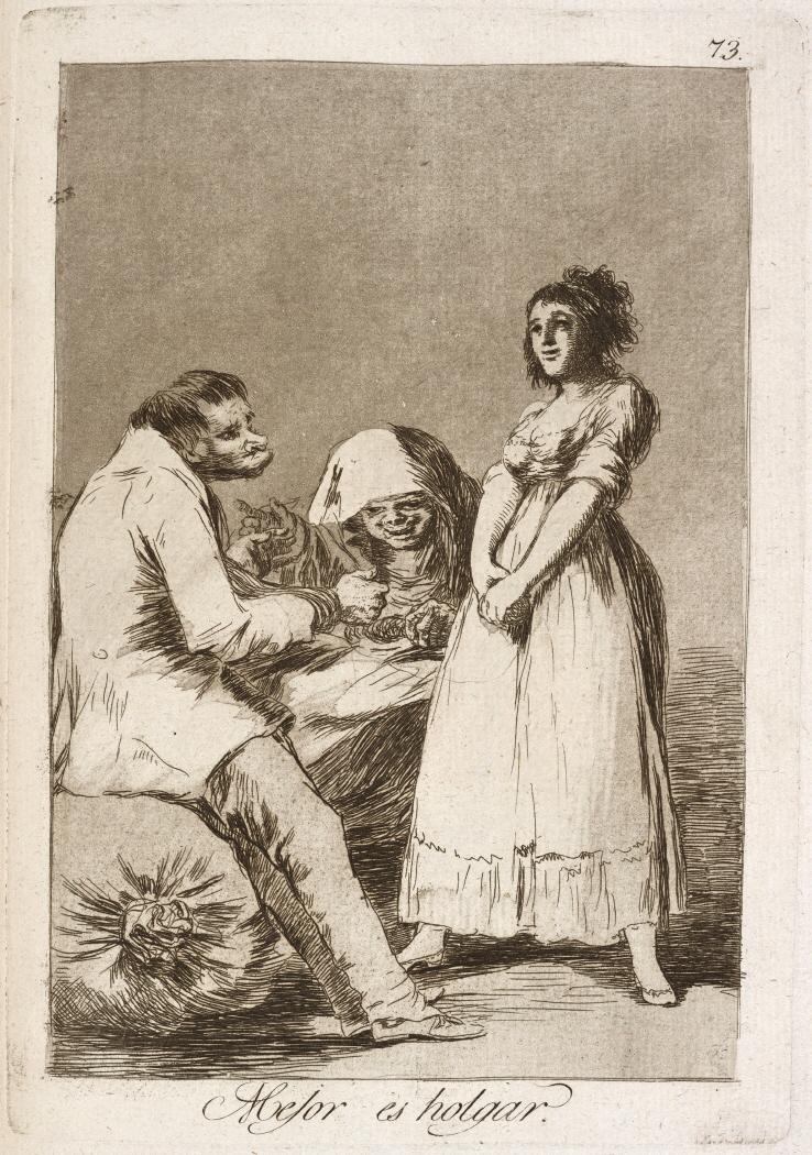 Caprichos. Mejor es holgar, 1799