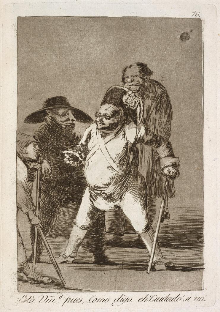 Caprichos. ¿Está Vm. pues, Como digo. eh! Cuidado! si no!…, 1799