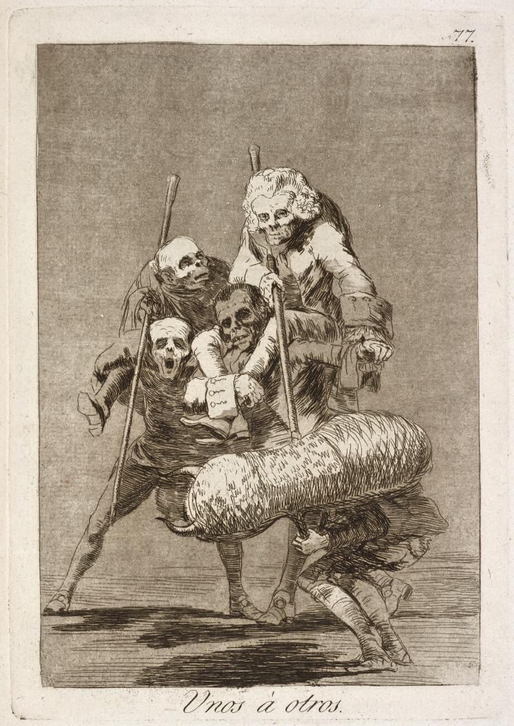 Caprichos. Unos á otros, 1799