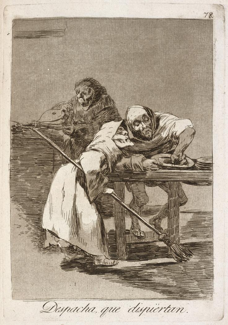Caprichos. Despacha, que dispiértan, 1799