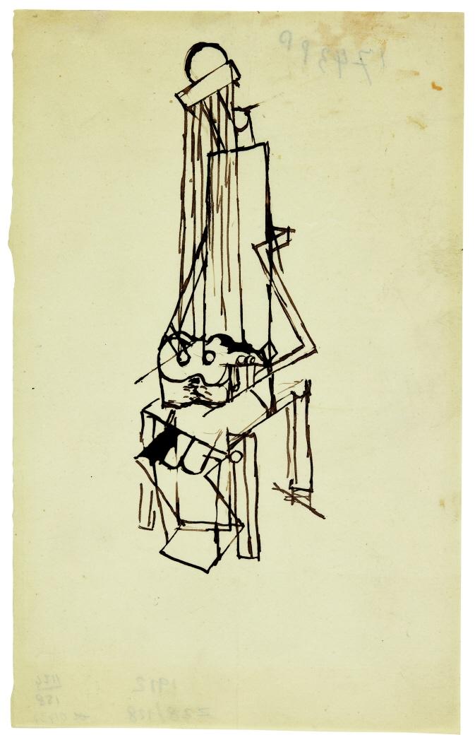 Homme à la guitare (Étude pour une sculpture), 1912