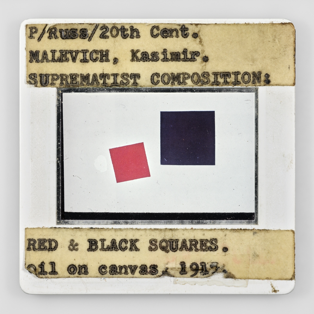 P/Russ/20th Cent. MALEVICH, Kasimir. SUPREMATIST COMPOSITION: RED & BLACK SQUARES. oil on canvas, 1915, IV, 2019